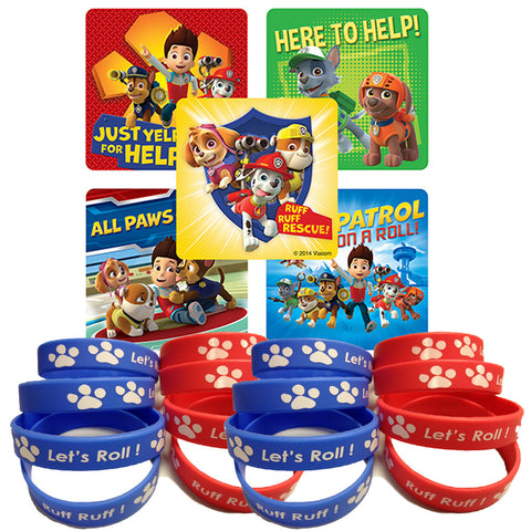 paw patrol stickers and stickers favors