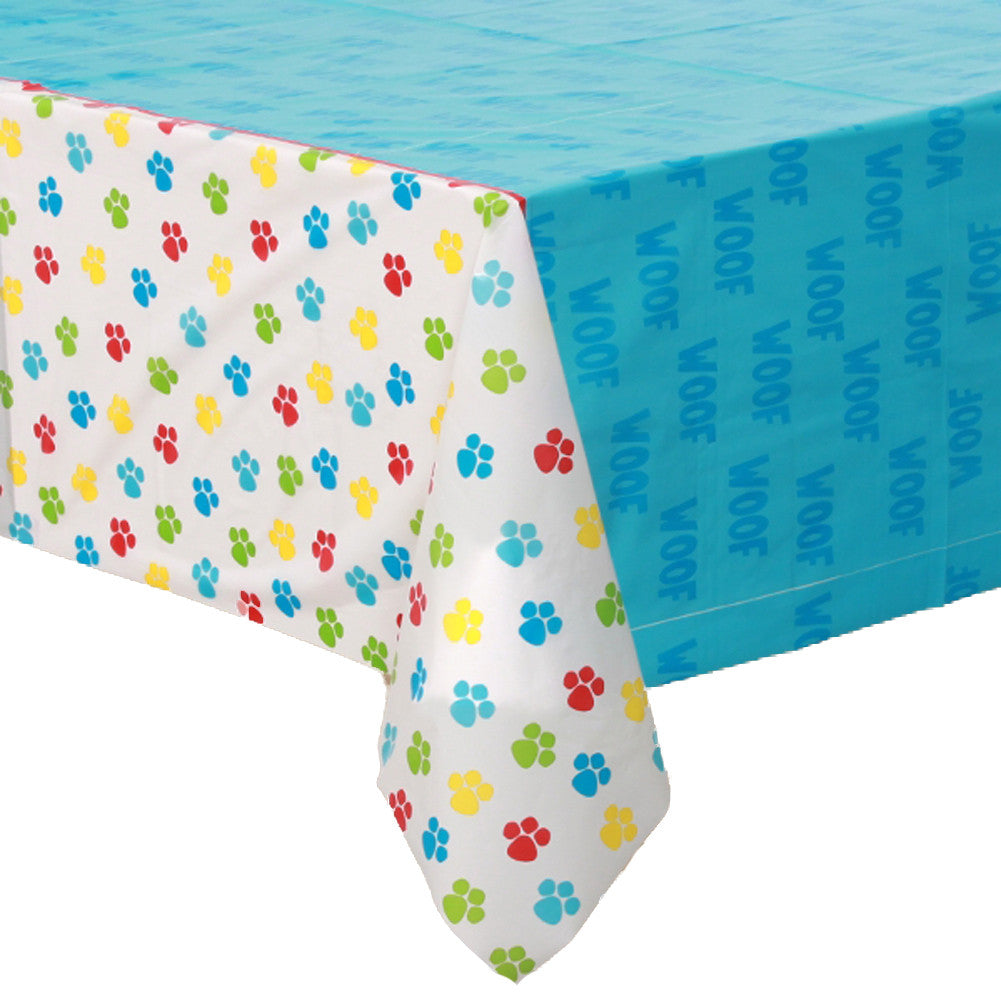 Paw Print Plastic Rectangle Table Cover Party Majors