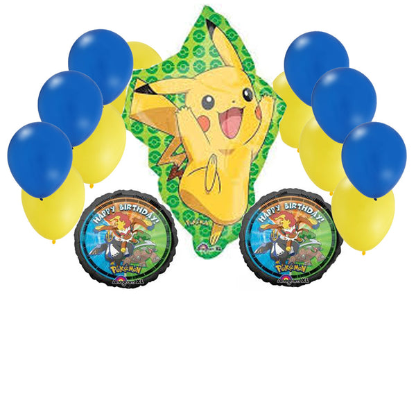 15 pc Pikachu Jumbo Pokemon Balloon Set - 31""