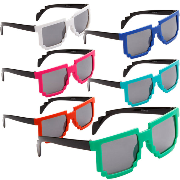 Kids pixel video minecraft terraria party favor glasses