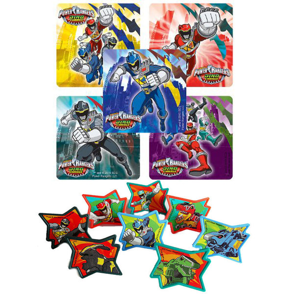 Power Rangers Dino Charged Stickers & Rings