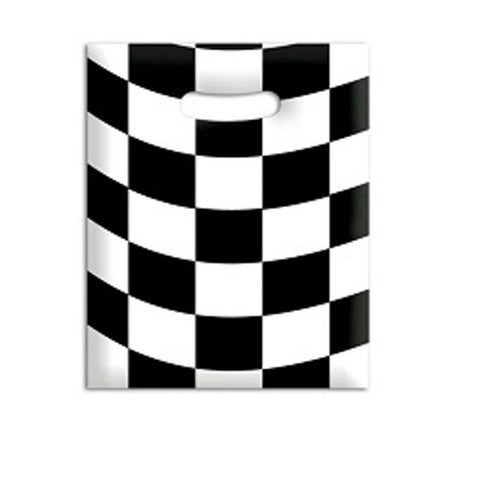 racing checkered party bags