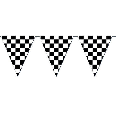 Racing Checkered Pennant Banner