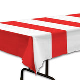 Red White Stripe Table Cover