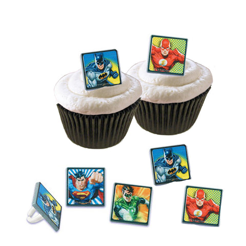 Cupcake Favor Rings - Justice League (24)