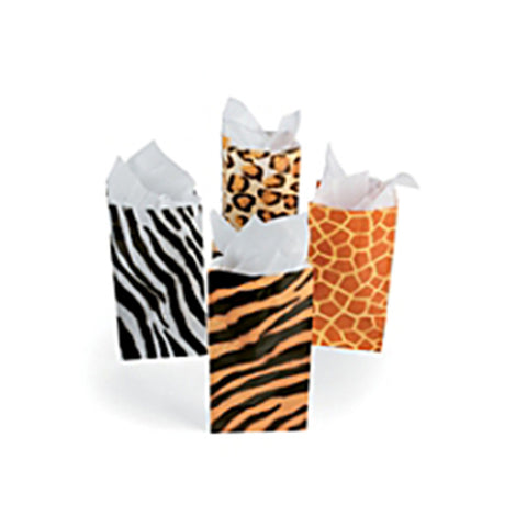 Jungle animal print party favor bags