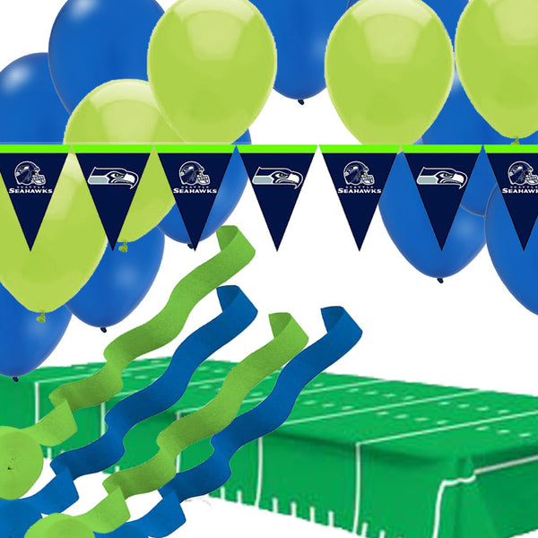 Seattle Seahawks Pennant Banner Balloons Streamers Tablecover
