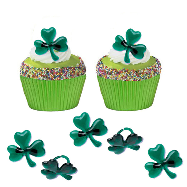 St Patricks Day Shamrock Rings