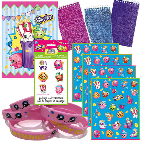 12 Guest Shopkins Party Favor Sets