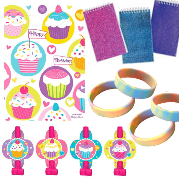 Cupcake Party Favor Set - 8 guests
