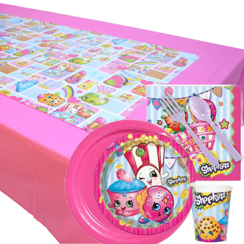 Shopkins 8 Guest Tableware Set & Tablecover