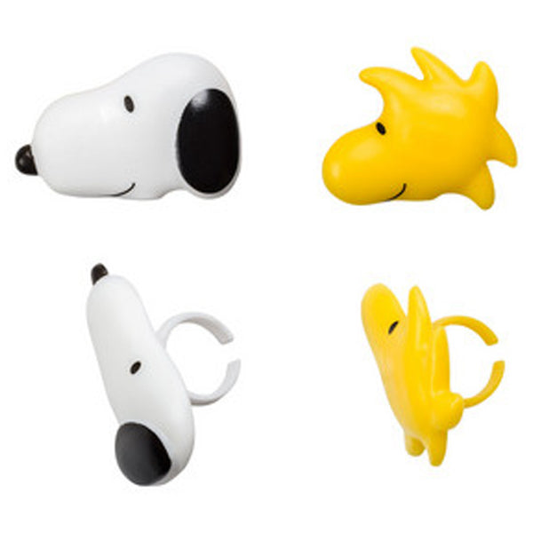 snoopy & woodstock cupcake rings