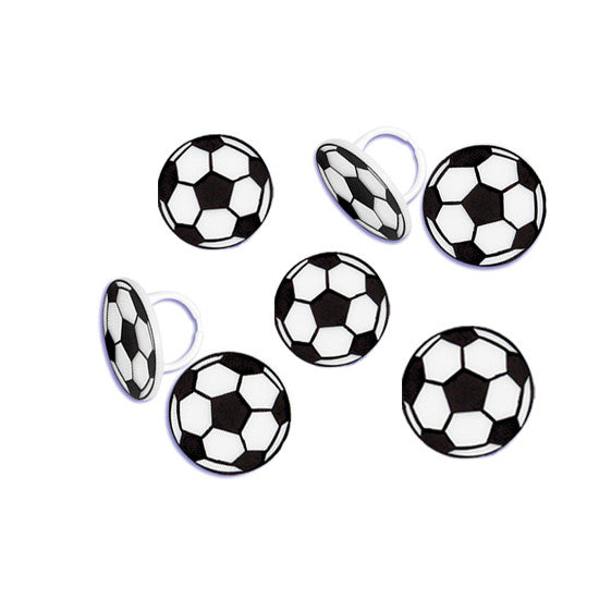 Soccer ball cupcake rings