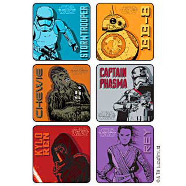 Star Wars Force Awakens stickers