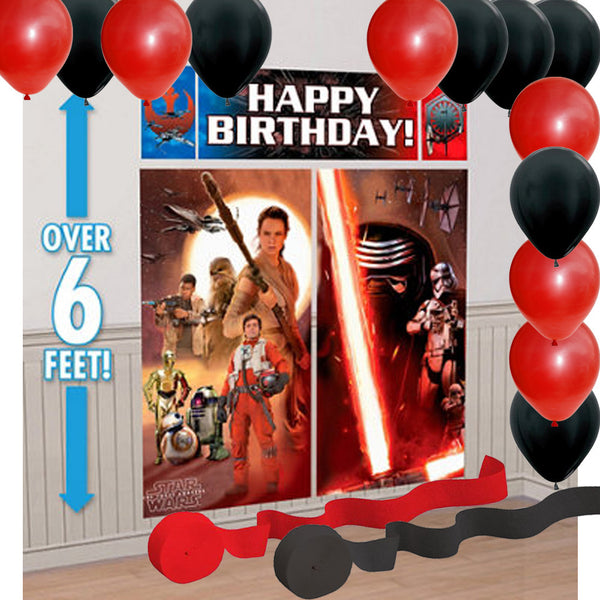 Star Wars Force Awakens Party Banner Balloons Streamers