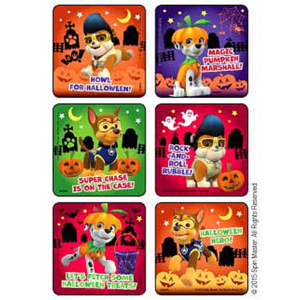 Paw Patrol Halloween party stickers