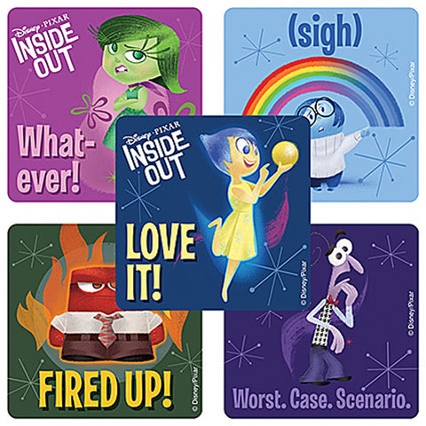 Sticker Pack - Disney Inside Out Movie - 75 ct