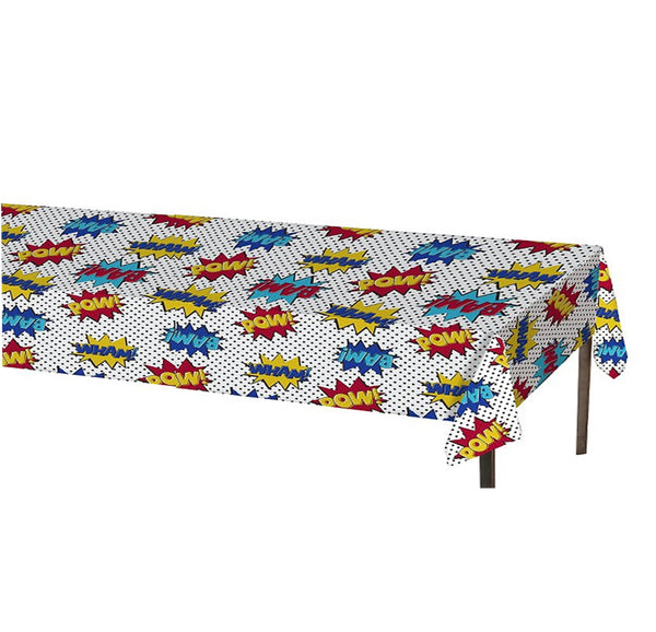 Superhero Comic Plastic Table Cover