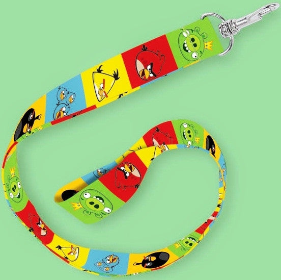12 Angry Birds Party Favor Lanyards