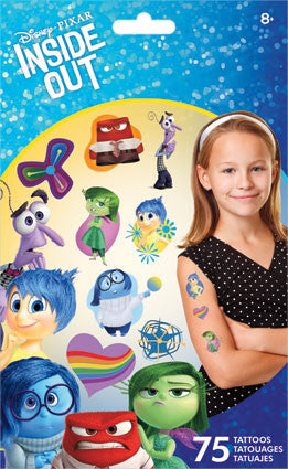 Inside Out temporary tattoos