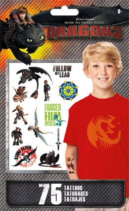 How to train your dragon temporary tattoos