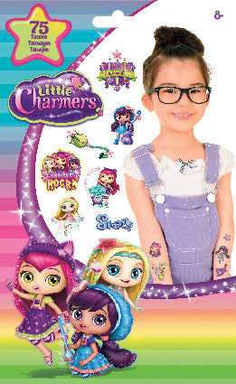 75 ct Little Charmers Party Favor Temporary Tattoos