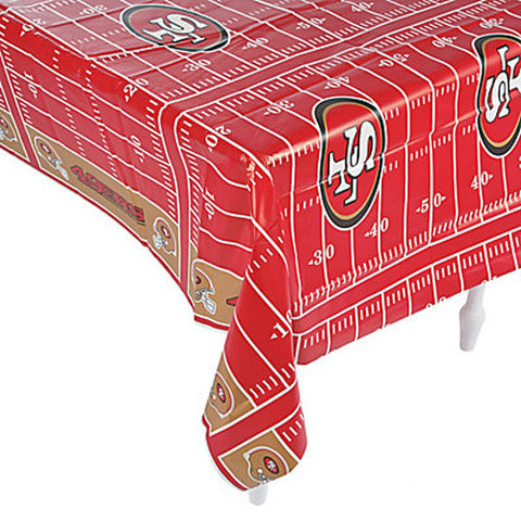 NFL San Francisco 49ers Football Plastic Table Cover
