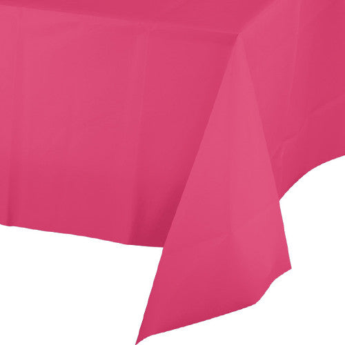 Pink disposable table cover