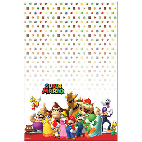 Super Mario Brothers Disposable Plastic Table Cover
