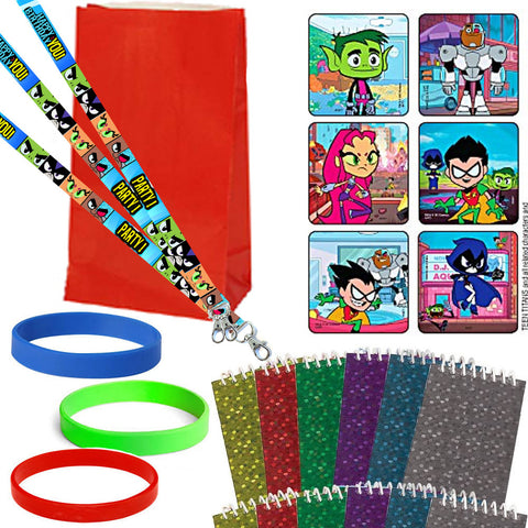Teen Titans Go Cartoon Favor Set - 12 Guests