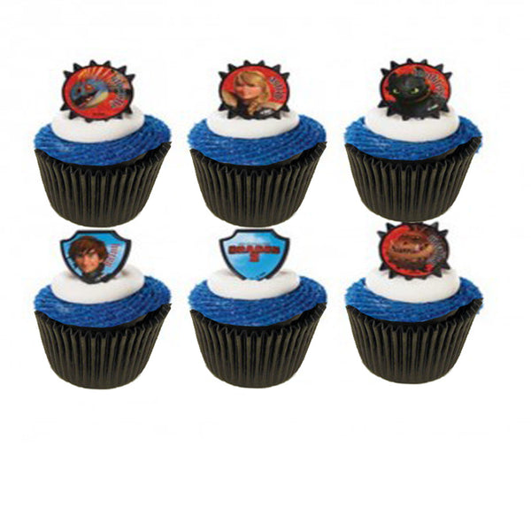 How to train your dragon cupcake rings