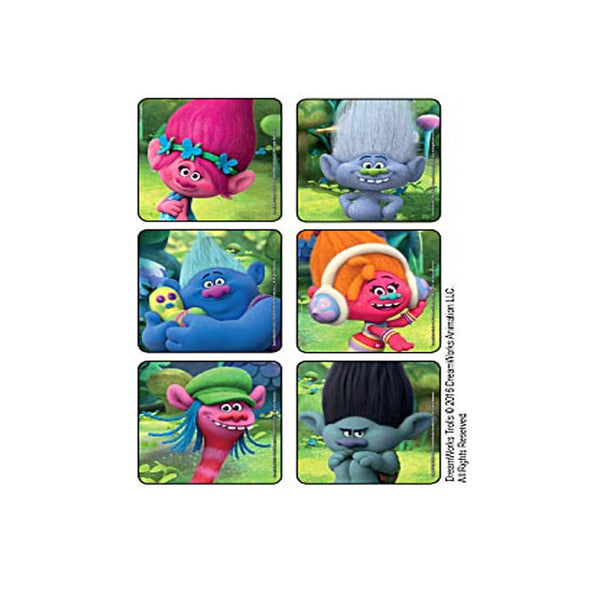 Trolls Movie Party Favor Stickers - 90 ct
