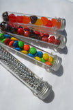 12 Clear Plastic Candy Favor Tubes & Caps