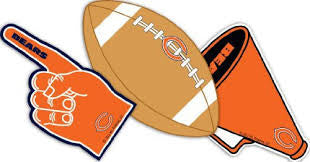 chicago bears party decoration cutouts