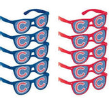 10 Chicago Cubs Adult Party Novelty Glasses