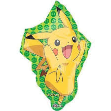 1 Jumbo Mylar Pikachu Pokemon Balloon - 31""