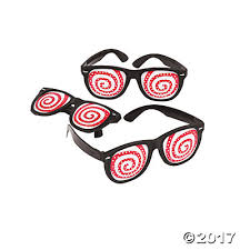 Hypno Hypnotic Spiral Pinhole Glasses Favors