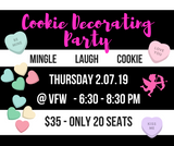 Valentine's Cookie Decorating Party   2.07.18 - 1 ticket