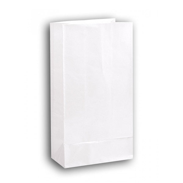 white favor lunch bags