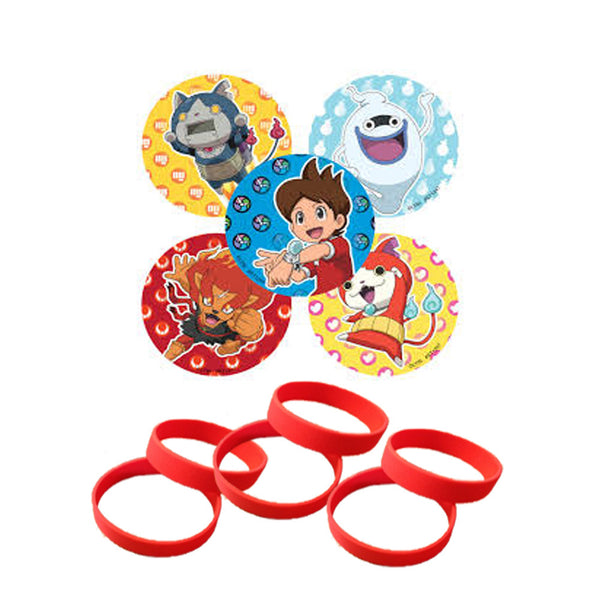 Yokai watch stickers favor wristbands