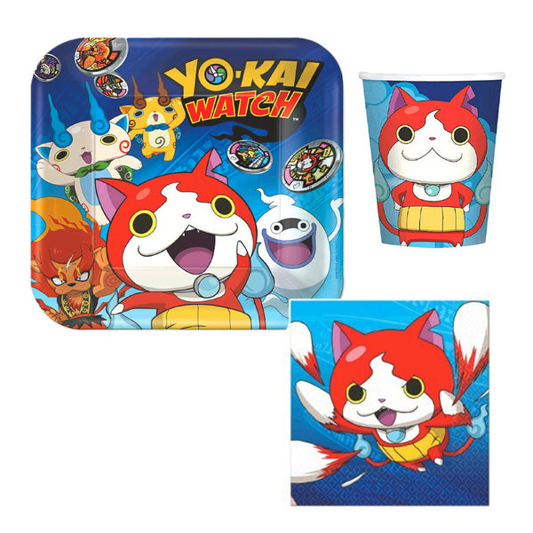 yo-kai watch plates napkins cups yokai