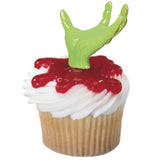 Cupcake Favor Pick Toppers - Zombie Hands (12)