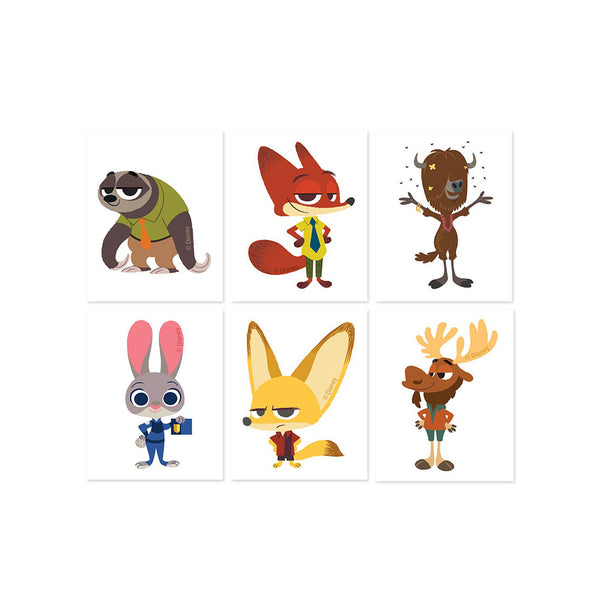 16 Zootopia Party Favor Tattoos