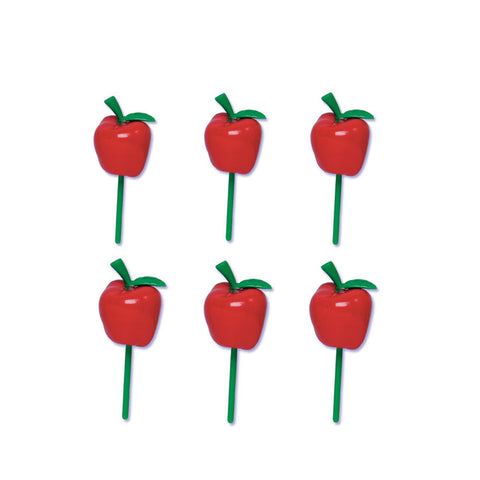 Red Apples cupcake picks