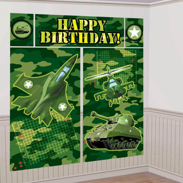 Army Camo Banner Wall Scene Setter -Party Decoration Photo Backdrop