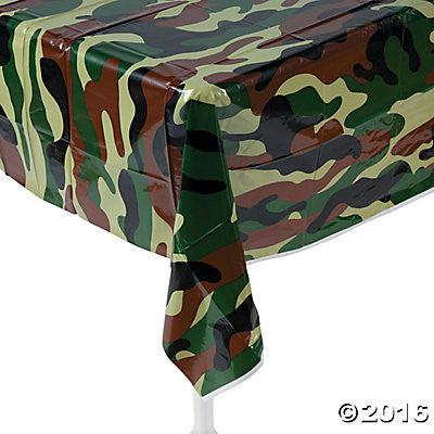 Camouflage Army Plastic Table Cover - Rectangle