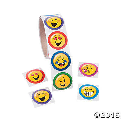 Emoji Happy Face Stickers - Party Favors