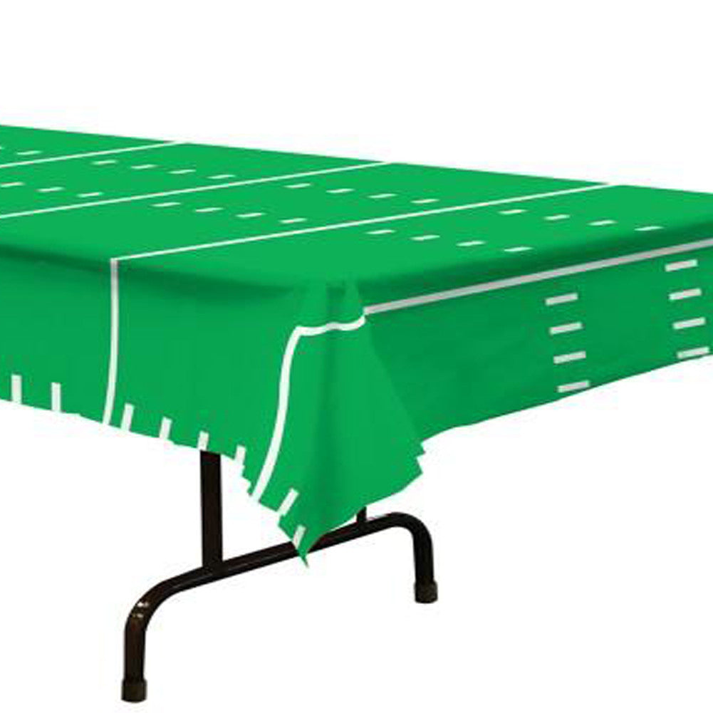 Football Field Plastic Rectangle Table Cover Party Majors
