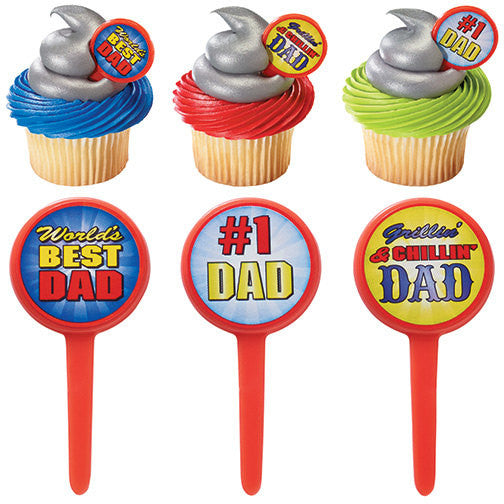 24 Father's Day Cupcake Picks