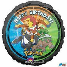 1 Mylar Pokemon - Happy Birthday Balloon